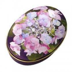 Pudełeczko kwiaty owal