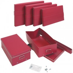 Pudełko z pokrywką czerwone (28)