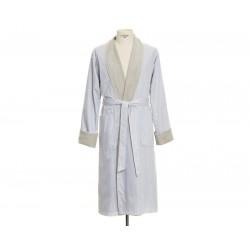 Szlafrok Move Homewear Stripes Light Grey XL