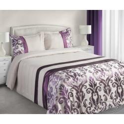 Narzuta na łóżko 170x210 Betty fioletowa z poszewką 50x70 Eurofirany