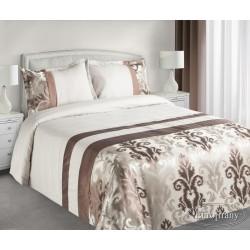 Narzuta na łóżko 170x210 Betty brązowa z poszewką 50x70 Eurofirany