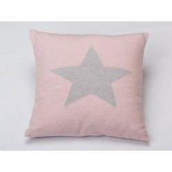 Poszewka David Fussenegger Silvretta Stars Pink 40x40