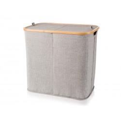 Kosz na bieliznę Move Bambus Canvas Grey