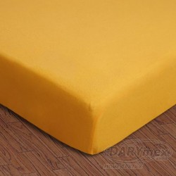 Prześcieradło Jersey z gumką 180x200 004 żółte Darymex