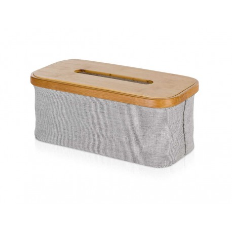 Pudełko na chusteczki Move Bamboo Canvas Grey