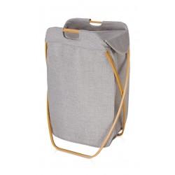 Kosz na bieliznę Move Bamboo Canvas Grey