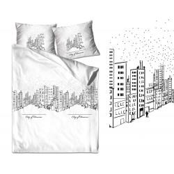 Pościel satynowa XQ 220x200 City Of Dream biała Greno