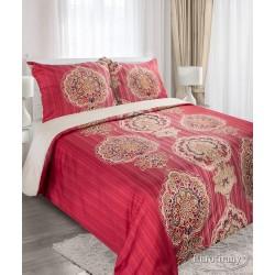 Pościel satynowa 160x200 Liwa czerwona Elegance Eurofirany