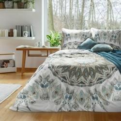Pościel satynowa 160x200 Dream łapacz snów biała turkusowa Eurofirany