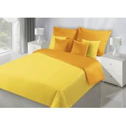 Pościel satynowa 140x200 Nova żółta pomarańczowa Eurofirany