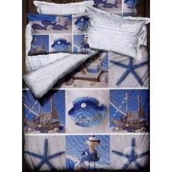 Pościel satynowa Hobby 3D Sea 180x200