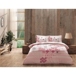 Pościel bawełniana 180x200 Armina Pink TAC