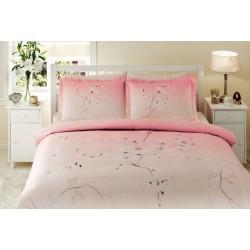 Pościel satynowa 180x200 Senfoni Pink TAC