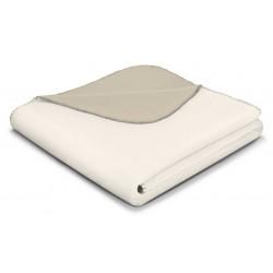 Koc bawełniany Biederlack Duo Cotton Ecru Feder 150x200