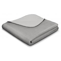 Koc bawełniany Biederlack Duo Cotton Graphite Rauch 150x200
