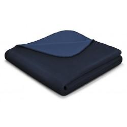 Koc bawełniany Biederlack Duo Cotton Marine Jeans 150x200