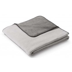 Koc bawełniany Biederlack Duo Cotton Melange Natur Graphit 150x200