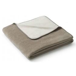 Koc bawełniany Biederlack Duo Cotton Melange Sand Natur 150x200
