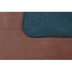 Koc bawełniany Biederlack Duo Cotton Melange Smaragd Siena 150x200