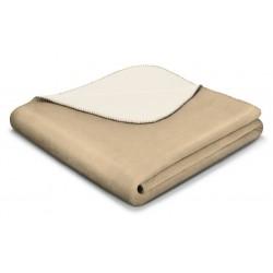 Koc bawełniany Biederlack Duo Cotton Mousse Ecru 150x200
