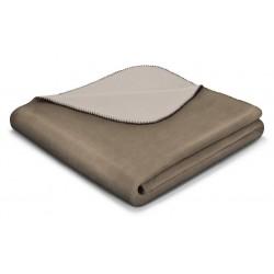 Koc bawełniany Biederlack Duo Cotton Palisander Feder 150x200