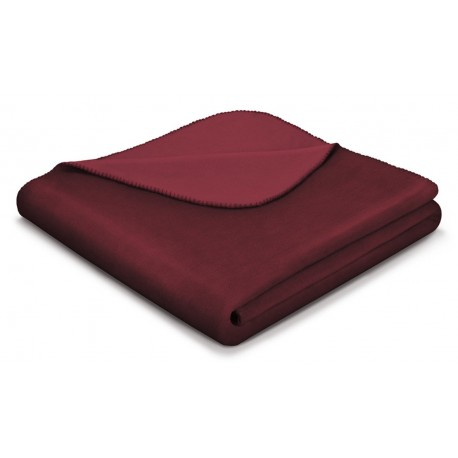 Koc bawełniany Biederlack Duo Cotton Purple Velvet 150x200