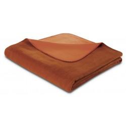 Koc bawełniany Biederlack Duo Cotton Rotfuchs Terra 150x200