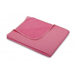 Koc bawełniany Biederlack Everywhere Pink 150x180
