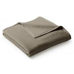 Koc bawełniany Biederlack Uno Cotton Haselnuss 150x200