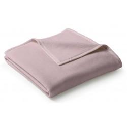 Koc bawełniany Biederlack Uno Cotton Rosa 150x200