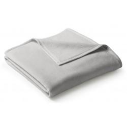 Koc bawełniany Biederlack Uno Cotton Silber 150x200