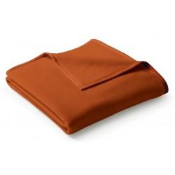 Koc bawełniany Biederlack Uno Cotton Terracotta 150x200