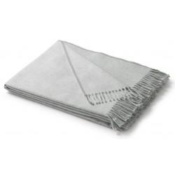 Pled bawełniany Biederlack Fransenplaid Silber 130x170