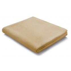 Pled bawełniany Biederlack Pure Cotton Beige 150x200