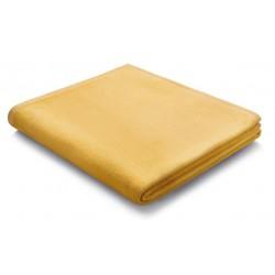 Pled bawełniany Biederlack Pure Cotton Gelb 150x200