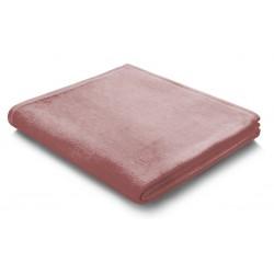 Pled bawełniany Biederlack Pure Cotton Rosenholz 150x200