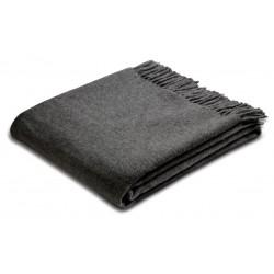 Pled wełniany Biederlack Anthracite Wool 130x170