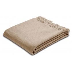 Pled wełniany Biederlack Beige Wool 130x170