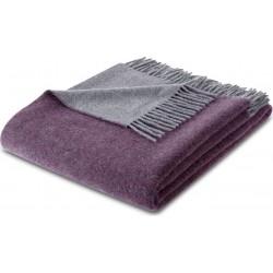 Pled wełniany Biederlack Purple-Graphit 130x170