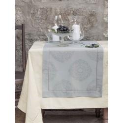 Obrus żakardowy Bovi Palace White 170x170