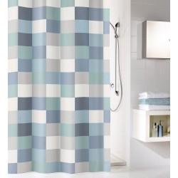 Zasłona prysznicowa Check Blue 180x200 Kleine Wolke