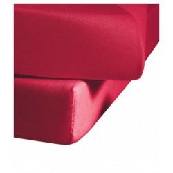 Prześcieradło Fleuresse Colours z gumką Red