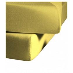 Prześcieradło Fleuresse Colours z gumką Yellow