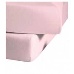 Prześcieradło Fleuresse Colours z gumką Rose Light