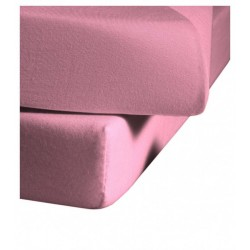 Prześcieradło Fleuresse Colours z gumką Pink