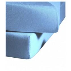 Prześcieradło Fleuresse Colours z gumką Blue Medium