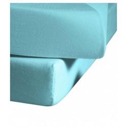 Prześcieradło Fleuresse Colours z gumką Ice Blue