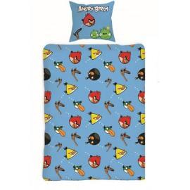 Pościel Angry Birds 140x200 Niebieska