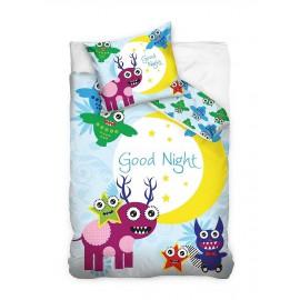 Pościel dziecięca 160x200 Sowa Good Night 2137 Carbotex