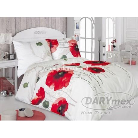 Pościel satynowa 160x200 Stella 21419/1 Maki czerwone Darymex